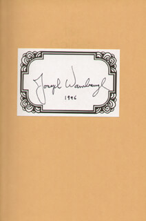 JOSEPH A. WAMBAUGH JR. - BOOK PLATE SIGNED 1996
