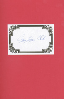 MARY HIGGINS CLARK - BOOK SIGNED CIRCA 1995