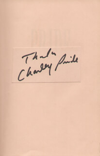 CHARLEY PRIDE - BOOK SIGNED
