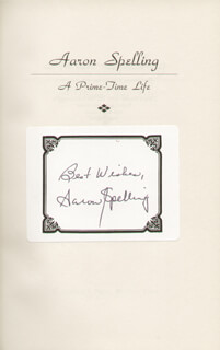 AARON SPELLING - BOOK PLATE SIGNED