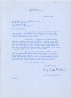 MARY ZIMBALIST - TYPED LETTER SIGNED 05/31/1956