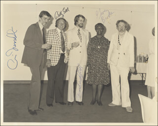GWENDOLYN BROOKS - AUTOGRAPHED SIGNED PHOTOGRAPH CO-SIGNED BY: PAUL FUSSELL, BILLY EDEL