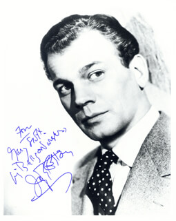 JOSEPH COTTEN - AUTOGRAPHED INSCRIBED PHOTOGRAPH