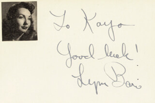 LYNN BARI - AUTOGRAPH NOTE SIGNED