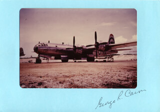 ENOLA GAY CREW (GEORGE R. CARON) - PHOTOGRAPH MOUNT SIGNED