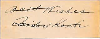 ISIDORE KONTI - AUTOGRAPH SENTIMENT SIGNED