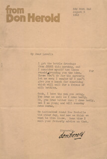 DON HEROLD - TYPED LETTER SIGNED 08/06/1919