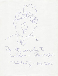 TED KEY - INSCRIBED ORIGINAL ART SIGNED
