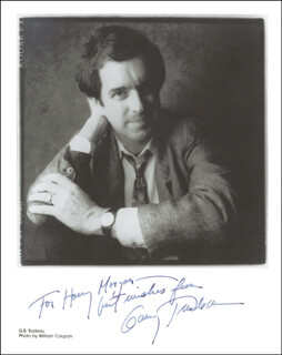 GARRY TRUDEAU - AUTOGRAPHED INSCRIBED PHOTOGRAPH