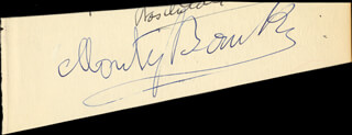 Autographs: MONTAGUE MONTY BANKS - CLIPPED SIGNATURE CO-SIGNED BY: MARGOLA FRANCIS WILSON, JOEL ASHLEY, RICHARD L. ROSENTHAL