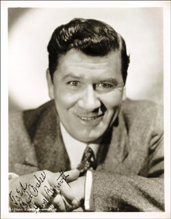 GEORGE SMILING VILLAIN BANCROFT - AUTOGRAPHED INSCRIBED PHOTOGRAPH