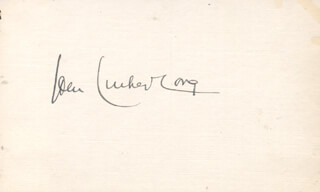 JOHN LUTHER LONG - AUTOGRAPH