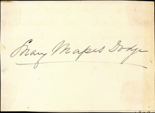 MARY MAPES DODGE - AUTOGRAPH