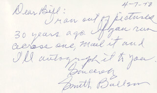 SMITH BALLEW - AUTOGRAPH NOTE DOUBLE SIGNED 04/07/1978
