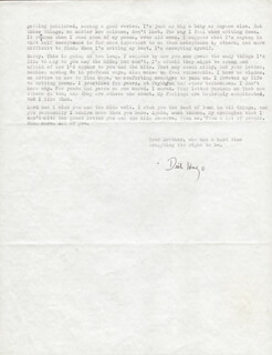 RICHARD HUGO - TYPED LETTER SIGNED 02/15
