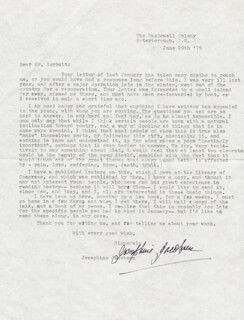 JOSEPHINE JACOBSEN - TYPED LETTER SIGNED 06/29/1979