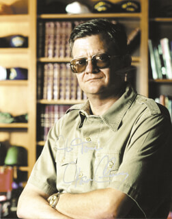 TOM CLANCY - AUTOGRAPHED INSCRIBED PHOTOGRAPH