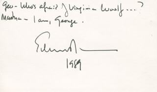 Autographs: EDWARD ALBEE - AUTOGRAPH QUOTATION SIGNED 1989
