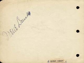 IRENE DUNNE - AUTOGRAPH CO-SIGNED BY: HARRY McNAUGHTON