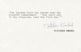FLETCHER KNEBEL - TYPED QUOTATION SIGNED