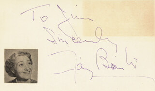 FAY BAINTER - AUTOGRAPH NOTE SIGNED
