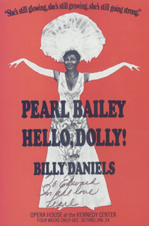 PEARL BAILEY - INSCRIBED ADVERTISEMENT SIGNED