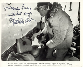 MALCOLM FORBES - AUTOGRAPHED INSCRIBED PHOTOGRAPH