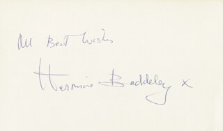 HERMIONE BADDELEY - AUTOGRAPH SENTIMENT SIGNED