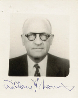 WILLIAM F. LOOMIS - AUTOGRAPHED SIGNED PHOTOGRAPH