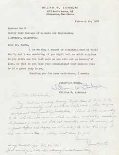 SPENCER HEATH - AUTOGRAPH LETTER SIGNED 02/22/1961