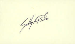 Autographs: SALLY K. RIDE - SIGNATURE(S)