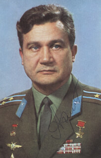 Autographs: MAJOR GENERAL ANATOLIY V. FILIPCHENKO - PHOTOGRAPH SIGNED