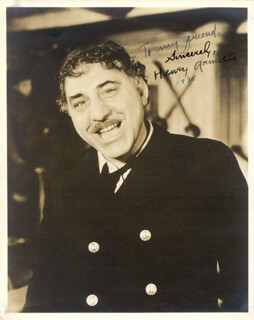 HENRY ARMETTA - AUTOGRAPHED SIGNED PHOTOGRAPH 1935