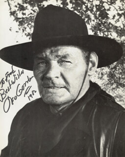 LEO GORDON - AUTOGRAPHED INSCRIBED PHOTOGRAPH 1982