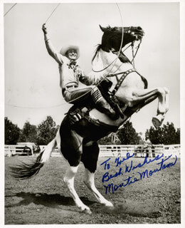 MONTIE MONTANA - AUTOGRAPHED INSCRIBED PHOTOGRAPH