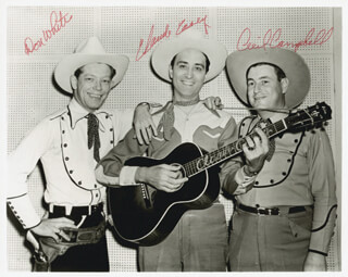 CLAUDE CASEY - AUTOGRAPHED SIGNED PHOTOGRAPH CO-SIGNED BY: CECIL CAMPBELL, DON WHITE