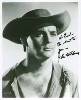 JOHN MITCHUM - AUTOGRAPHED INSCRIBED PHOTOGRAPH