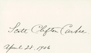 SCOTT CLIFTON CARBEE - AUTOGRAPH 04/28/1906