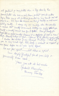 MRS. SPEEDWELL MASSINGHAM - AUTOGRAPH LETTER SIGNED