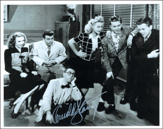 LET'S GO STEADY MOVIE CAST - AUTOGRAPHED SIGNED PHOTOGRAPH CO-SIGNED BY: MEL TORME, ARNOLD STANG