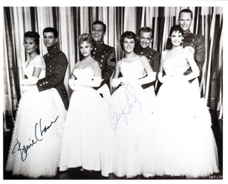 MARDI GRAS MOVIE CAST - AUTOGRAPHED SIGNED PHOTOGRAPH CO-SIGNED BY: BARRIE CHASE, GARY CROSBY