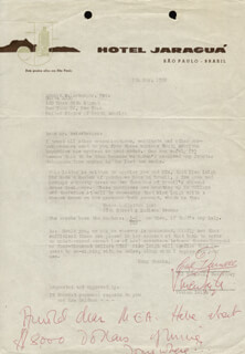 VIVIEN LEIGH - TYPED LETTER SIGNED 05/09/1962 CO-SIGNED BY: CAL DARNELL