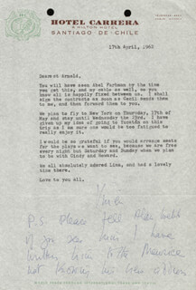 VIVIEN LEIGH - TYPED LETTER SIGNED 05/09/1962