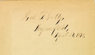 GEORGE FRANKLIN GETTY - AUTOGRAPH 04/27/1878