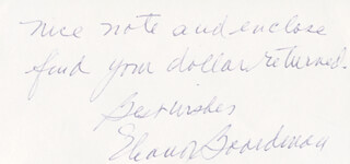 ELEANOR BOARDMAN - AUTOGRAPH NOTE SIGNED 07/12/1980