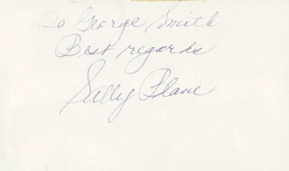 SALLY BLANE - AUTOGRAPH NOTE SIGNED