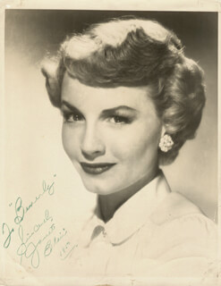 JANET BLAIR - AUTOGRAPHED INSCRIBED PHOTOGRAPH 1950
