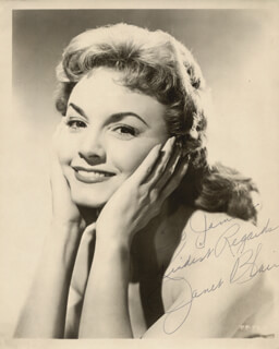JANET BLAIR - AUTOGRAPHED INSCRIBED PHOTOGRAPH