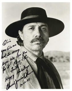 EDWARD JAMES OLMOS - AUTOGRAPHED INSCRIBED PHOTOGRAPH 12/12/1995
