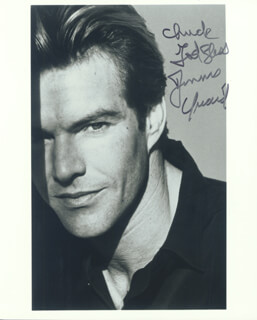 DENNIS QUAID - AUTOGRAPHED INSCRIBED PHOTOGRAPH